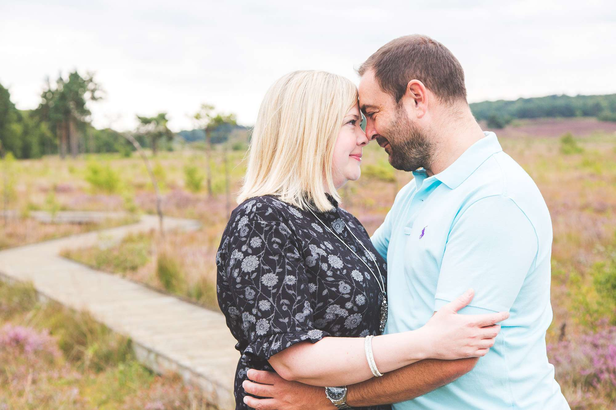 Engagement shoot couple in love