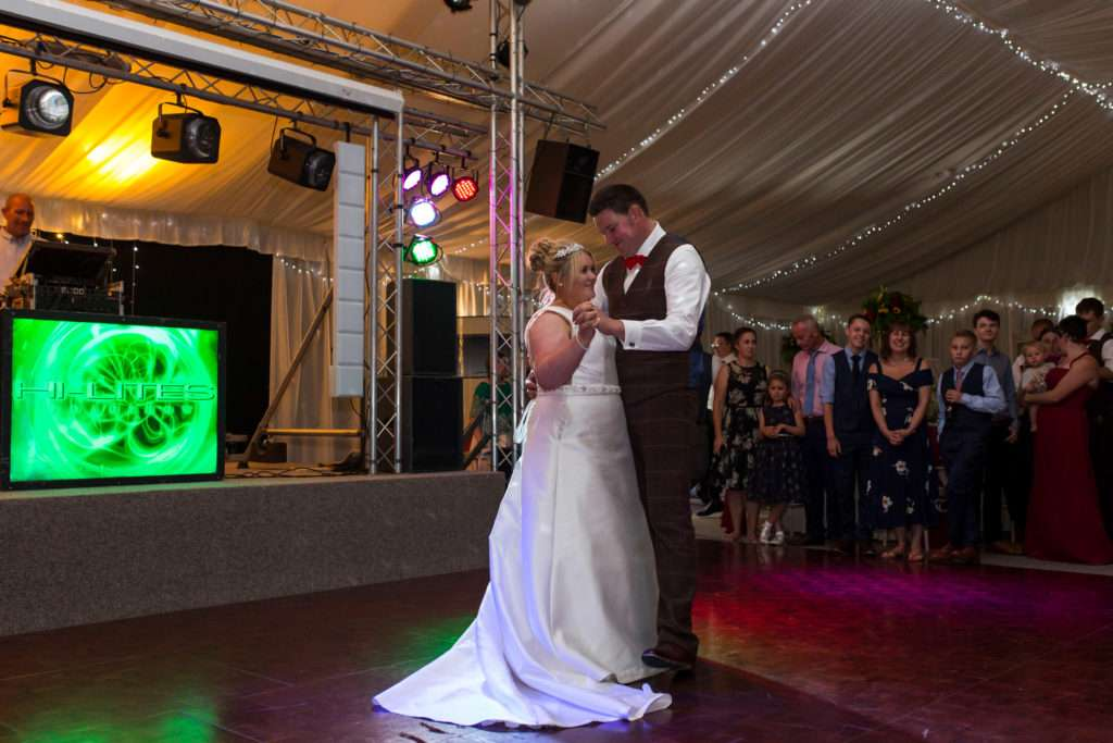 Bride & Groom having their first dance at Applewood Hall in Norfolk