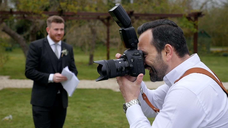 Mark Raines professional photographer at work